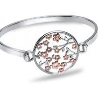 Hot Diamonds Shades of Spring 18ct Rose Gold Blossom Bangle JEWEL DC089
