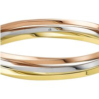 Image of Ladies Calvin Klein Two-tone steel/gold plate Extra Small Exclusive Bangle KJ0KDD3001XS