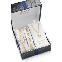 Ladies Sekonda Classique Necklace Bracelet Gift Set Diamond Watch 4131G