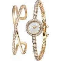 Ladies Accurist Bangle Gift Set Watch Lb1799