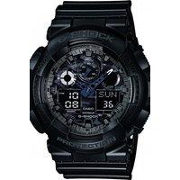Image of Mens Casio G-Shock Alarm Chronograph Watch GA-100CF-1AER