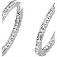 Guess Jewellery Crystal Eternity Hoop Earrings JEWEL UBE51454