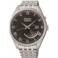 Mens Seiko Dress Retrograde Kinetic Watch SRN057P1