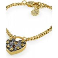 Image of Juicy Couture Jewellery Pave Heart Padlock Wish Bracelet JEWEL WJW518-710