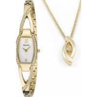Ladies Accurist Necklace Gift Set Watch LB1213P