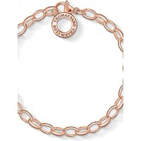 Ladies Thomas Sabo Rose Gold Plated Sterling Silver Charm Club Charm Bracelet X0031-415-12-L