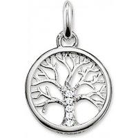 Ladies Thomas Sabo Sterling Silver Karma Beads Tree Of Life Pendant Kc0002-051-14