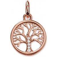 Ladies Thomas Sabo Sterling Silver Karma Beads Tree Of Life Pendant Kc0002-416-14
