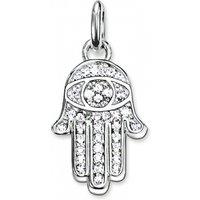 Ladies Thomas Sabo Sterling Silver Karma Beads Fatimas Hand Pendant Kc0005-051-14