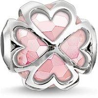 Image of Ladies Thomas Sabo Sterling Silver Karma Beads Cloverleaf Rose Bead K0170-034-9