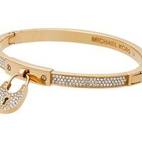 Ladies Michael Kors PVD Gold plated Heritage Padlock Hinge Bangle MKJ4883710