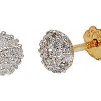 Jewellery Essentials Diamond Set Stud Earrings JEWEL AJ-12152359