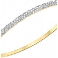 Jewellery Essentials Diamond Set Bangle JEWEL AJ-12110671