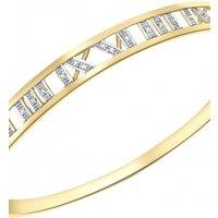 Jewellery Essentials Diamond Set Roman Numeral Bangle JEWEL AJ-12110669