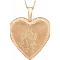Jewellery Essentials St Christopher Heart Shaped Locket JEWEL AJ-14010038