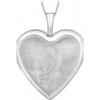 Jewellery Essentials St Christopher Heart Shaped Locket JEWEL AJ-14010037