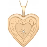 Jewellery Essentials 20mm Diamond Set Heart Locket JEWEL AJ-14010034