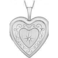 Jewellery Essentials 20mm Diamond Set Heart Locket JEWEL AJ-12142544