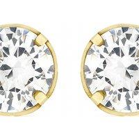 Image of Jewellery Essentials 5mm Cubic Zirconia Stud Earrings JEWEL AJ-15040202