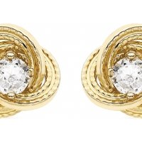 Image of Jewellery Essentials Cubic Zirconia Knot Earrings JEWEL AJ-15040178