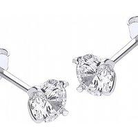 Image of Jewellery Essentials 5mm Cubic Zirconia Stud Earrings JEWEL AJ-15040258