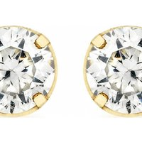 Image of Jewellery Essentials 4mm Cubic Zirconia Stud Earrings JEWEL AJ-15040201