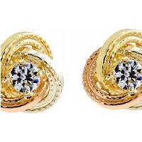 Image of Jewellery Essentials Cubic Zirconia Knot Stud Earrings JEWEL AJ-15043627