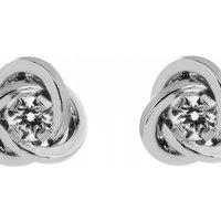 Image of Jewellery Essentials Cubic Zirconia Knot Earrings JEWEL AJ-15047012