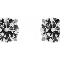 Jewellery Essentials Cubic Zirconia Claw Set Stud Earrings JEWEL AJ-37230041