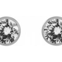 Image of Jewellery Essentials 5mm Cubic Zirconia Stud Earrings JEWEL AJ-15040077