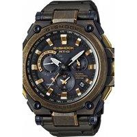 Image of Mens Casio Premium G-Shock MT-G GPS Aged Gold x Black Alarm Chronograph Watch MTG-G1000BS-1AER