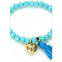 Image of Juicy Couture Jewellery Heart & Tassel Beaded Bracelet JEWEL GJW35-422