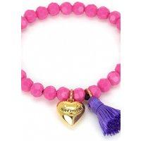 Image of Juicy Couture Jewellery Heart & Tassel Beaded Bracelet JEWEL GJW35-673