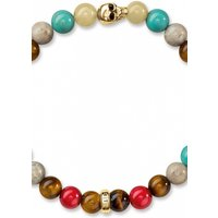 Image of Thomas Sabo Jewellery COLOURFUL WITH SKULL GOLD BRACELET JEWEL A1513-882-7-L17