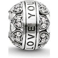 Image of Thomas Sabo Jewellery Karma Beads I Love You Bead JEWEL K0211-643-14