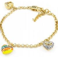 Image of Juicy Couture Jewellery Enamel Heart Charm Bracelet JEWEL WJW975-710-U