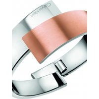 Image of Ladies Calvin Klein Two-Tone Steel and Rose Plate Extra Small Intense Bangle KJ2HPD2801XS