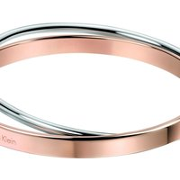 Image of Ladies Calvin Klein Two-Tone Steel and Rose Plate Extra Small Coil Bangle KJ63BB0101XS