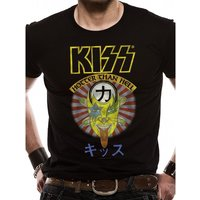 Kiss - Hotter Than Hell Men's Large T-Shirt - Black