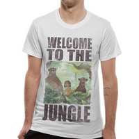 Jungle Book - Welcome To The Jungle Men's Large T-Shirt - White