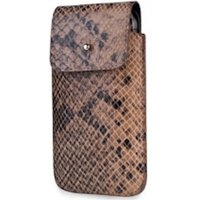 SOX Serpente Genuine Leather Premium Mobile Phone Bag for iPhone/Samsung and more, Large, Brown (SOX KSEB 03 L)
