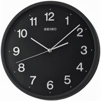 Seiko QXA660K Sweep Second Wall Clock with 3D Numerals Black