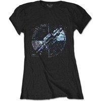 Pink Floyd - Machine Greeting Blue Women's Small T-Shirt - Black
