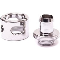 Monsoon 13/10mm (ID 3/8 OD 1/2) Free Center Compression Fitting Chrome