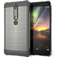 Nokia 6 (2018) Carbon Anti Fall TPU Case - Clear