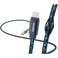 Hama Glitter Charging/Data Cable, Lightning, 1.5 m, blue