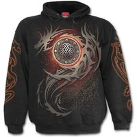 Dragon Eye Men's Medium Hoodie - Black