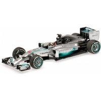 Minichamps 1:43 Scale 2014 Mercedes AMG W05 Lewis Hamilton Winner Bahrain GP Die Cast Model