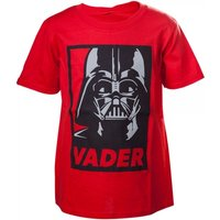 Star Wars Kids Unisex Darth Vader Framed Closeup 86/92 Red T-Shirt