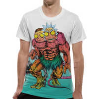 Rick And Morty - Monster Men's X-Large T-Shirt - White